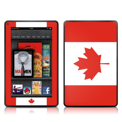 Kindle Fire Skin - Canadian Flag