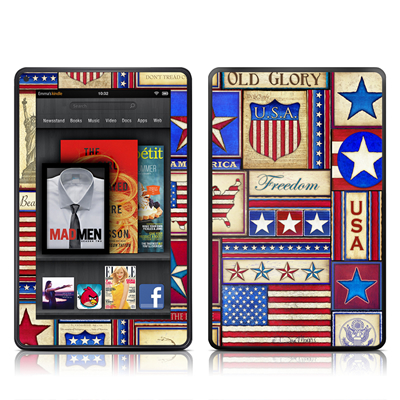 Kindle Fire Skin - Flag Patchwork