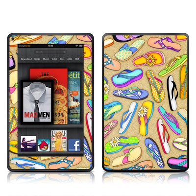 Kindle Fire Skin - Flip Flops