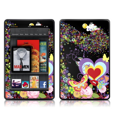 Kindle Fire Skin - Flower Cloud