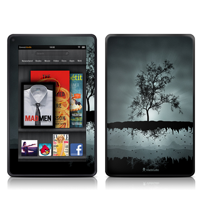 Kindle Fire Skin - Flying Tree Black