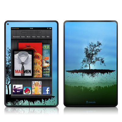 Kindle Fire Skin - Flying Tree Blue