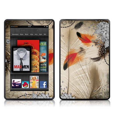 Kindle Fire Skin - Feather Dance