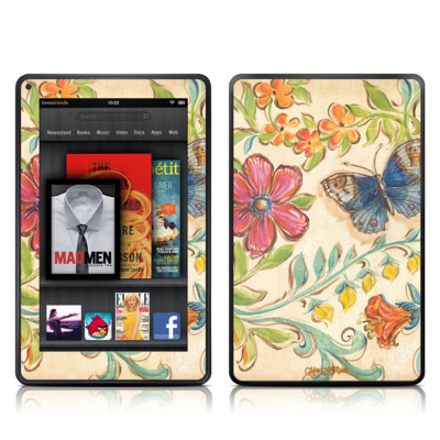 Kindle Fire Skin - Garden Scroll