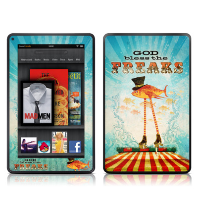 Kindle Fire Skin - God Bless The Freaks