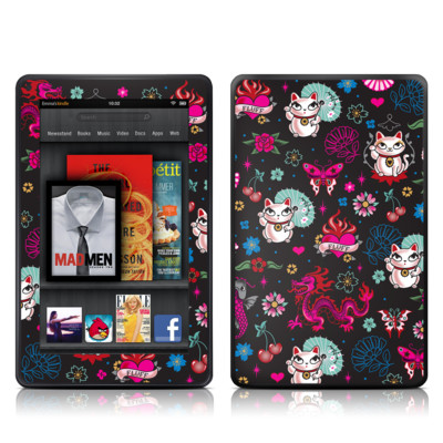 Kindle Fire Skin - Geisha Kitty