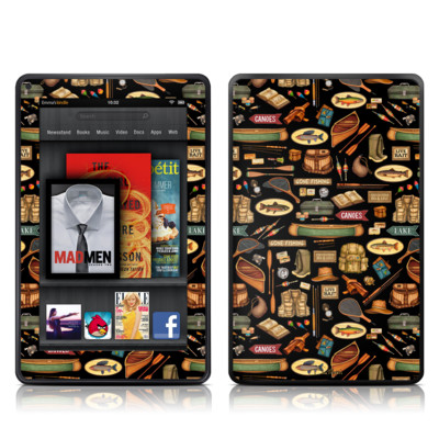 Kindle Fire Skin - Gone Fishing