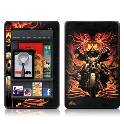 Kindle Fire Skin - Grim Rider