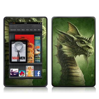 Kindle Fire Skin - Green Dragon