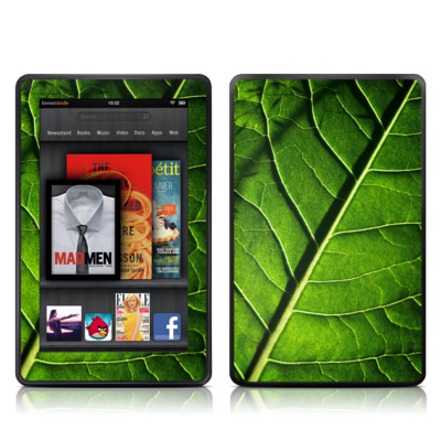 Kindle Fire Skin - Green Leaf