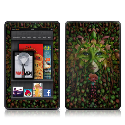Kindle Fire Skin - Green Woman