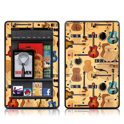 Kindle Fire Skin - Guitar Collage