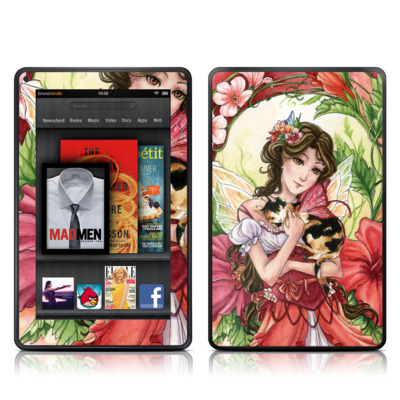 Kindle Fire Skin - Hibiscus Fairy