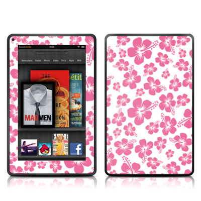 Kindle Fire Skin - Pink Hibiscus