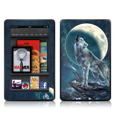 Kindle Fire Skin - Howling Moon Soloist