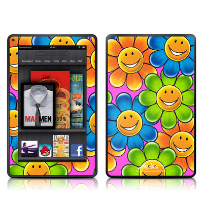 Kindle Fire Skin - Happy Daisies