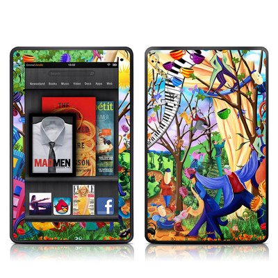 Kindle Fire Skin - Happy Town Celebration