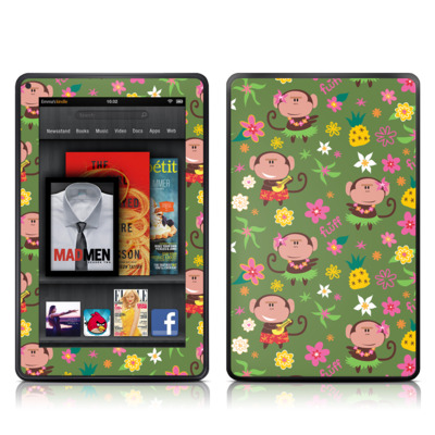 Kindle Fire Skin - Hula Monkeys