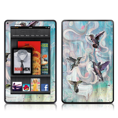 Kindle Fire Skin - Hummingbirds