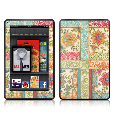 Kindle Fire Skin - Ikat Floral