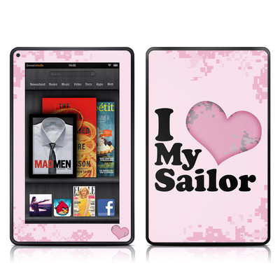 Kindle Fire Skin - I Love My Sailor