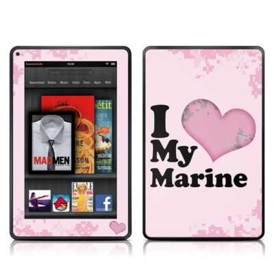 Kindle Fire Skin - I Love My Marine