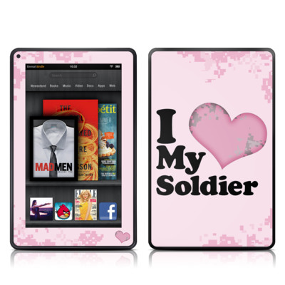 Kindle Fire Skin - I Love My Soldier