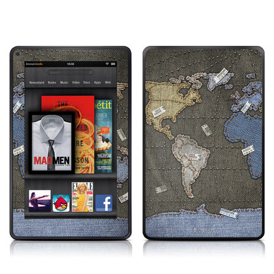 Kindle Fire Skin - Jean Map
