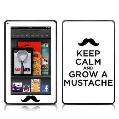 Kindle Fire Skin - Keep Calm - Mustache