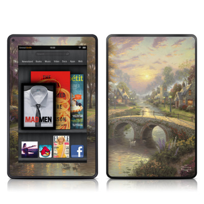 Kindle Fire Skin - Sunset On Lamplight Lane