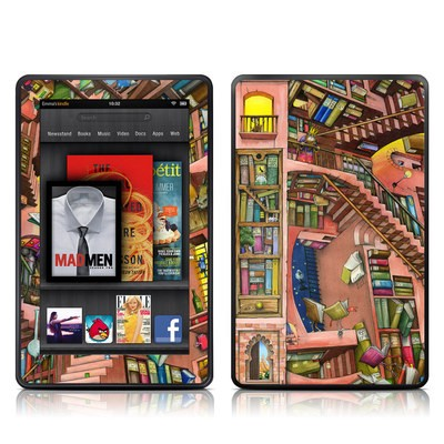 Kindle Fire Skin - Library Magic