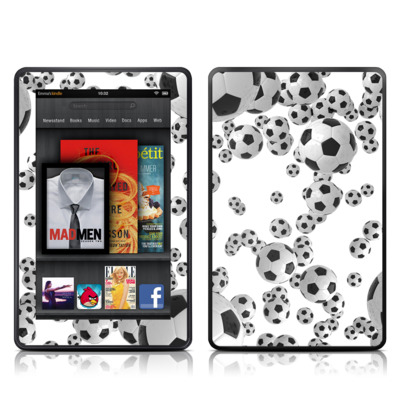 Kindle Fire Skin - Lots of Soccer Balls