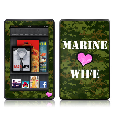 Kindle Fire Skin - Marine Wife