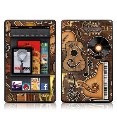 Kindle Fire Skin - Music Elements