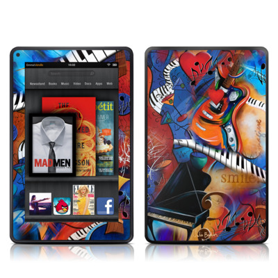 Kindle Fire Skin - Music Madness
