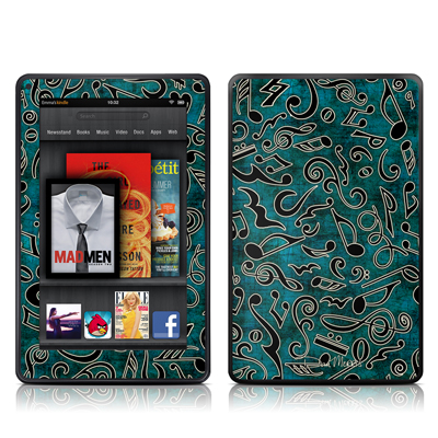 Kindle Fire Skin - Music Notes