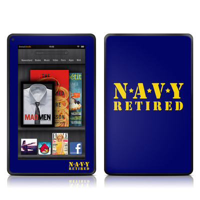 Kindle Fire Skin - Navy Retired