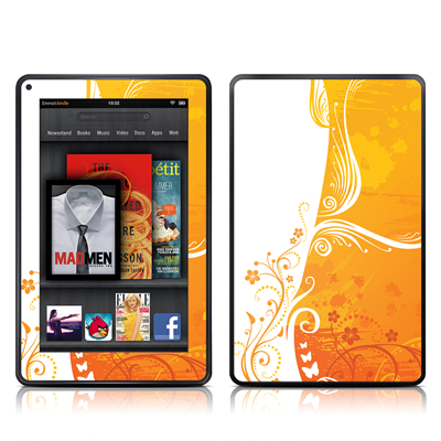 Kindle Fire Skin - Orange Crush