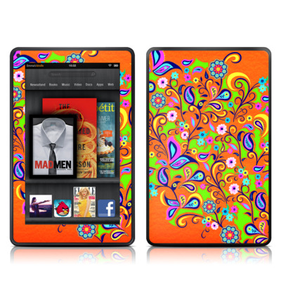 Kindle Fire Skin - Orange Squirt
