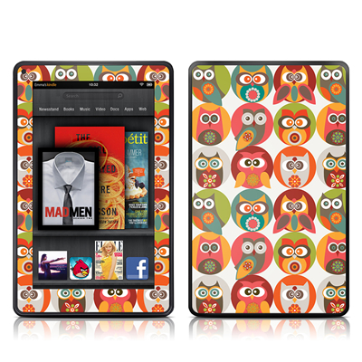 Kindle Fire Skin - Owls Family