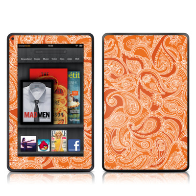 Kindle Fire Skin - Paisley In Orange