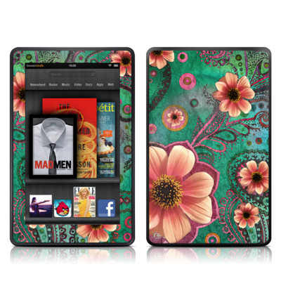 Kindle Fire Skin - Paisley Paradise