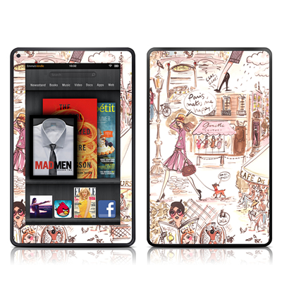 Kindle Fire Skin - Paris Makes Me Happy