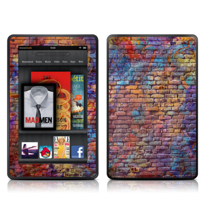 Kindle Fire Skin - Painted Brick