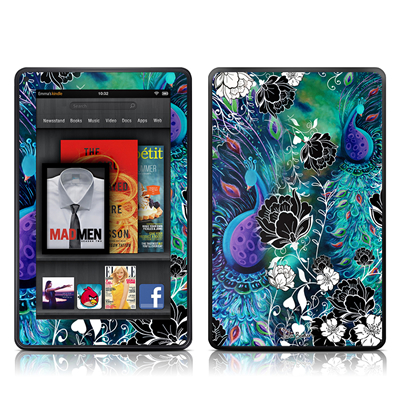 Kindle Fire Skin - Peacock Garden