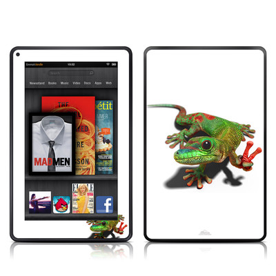 Kindle Fire Skin - Peace Gecko