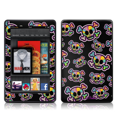 Kindle Fire Skin - Peace Skulls