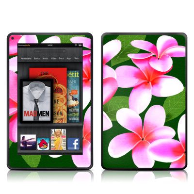 Kindle Fire Skin - Pink Plumerias