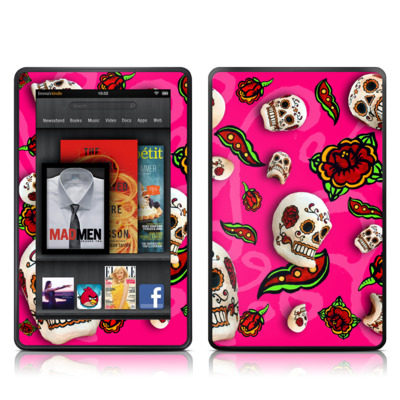 Kindle Fire Skin - Pink Scatter