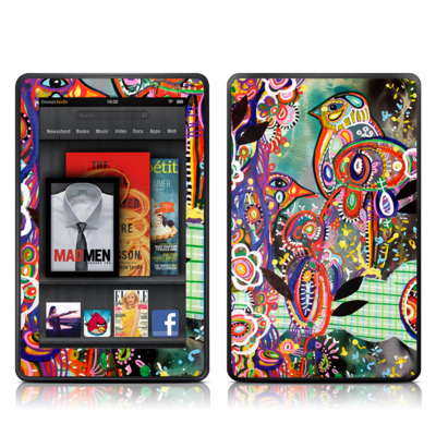 Kindle Fire Skin - Purple Birds